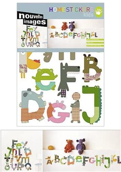 nouvelles images animal alphabet wall stickers
