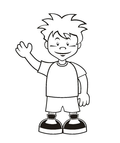 coloring page of boy thinking coloring page of a boy pages coloring page of boy thinking