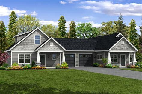 duplex style this charming cottage duplex plan has two unique units