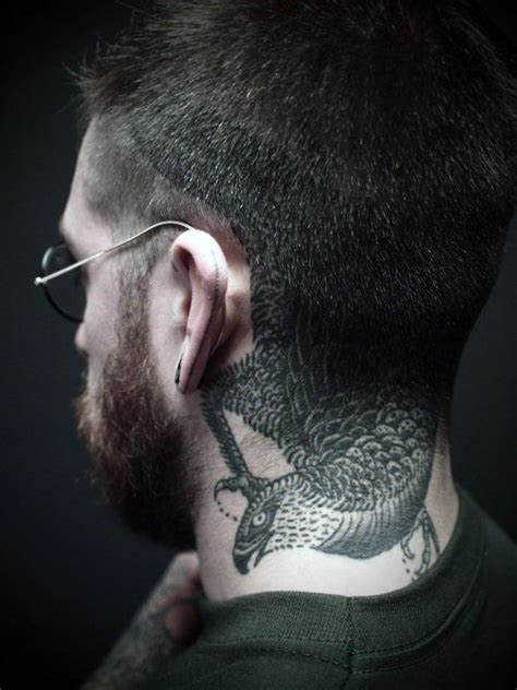 eagle tattoo back of neck top 40 best neck tattoos for men manly designs and ideas