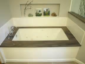 Brown Bathtub Under Mount Tub Elegant Brown Transitional Bathroom