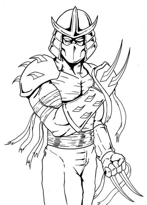 mutant turtles coloring pages shredder mutant turtles coloring page