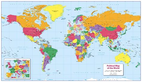 map of the world children s political map of the world 163 14 99