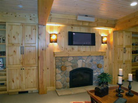 Log Cabin With Basement by Log Cabin Basement Remodel