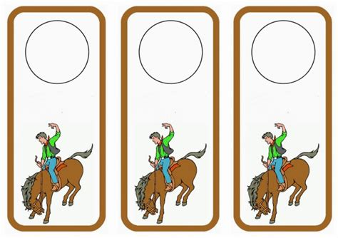 printable animal door hangers horse door hangers birthday printable