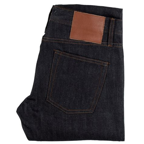 Denim Unbranded ub455 tight fit 12 5oz black selvedge chino the