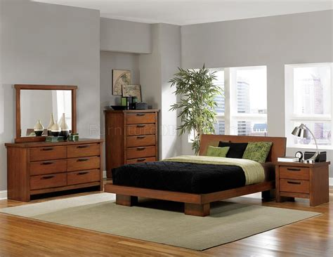 2218 Kobe Bedroom By Homelegance In Medium Oak W Options Medium Oak Bedroom Furniture
