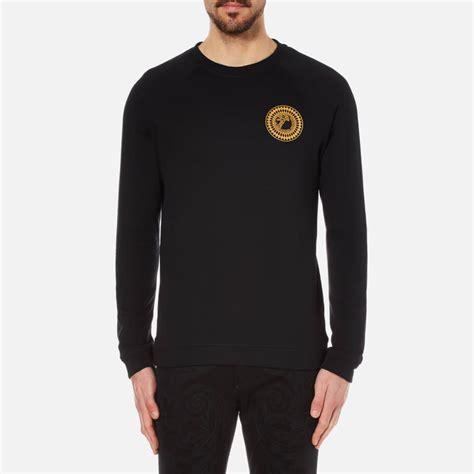 versace collection s medusa badge sweatshirt black