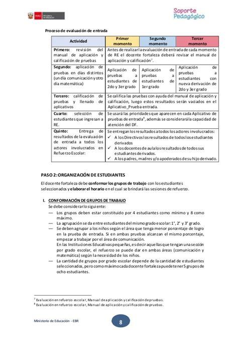 refuerzo y liaci 243 n sesiones de refuerzo escolar tercer grado protocolo refuerzo escolar 2016