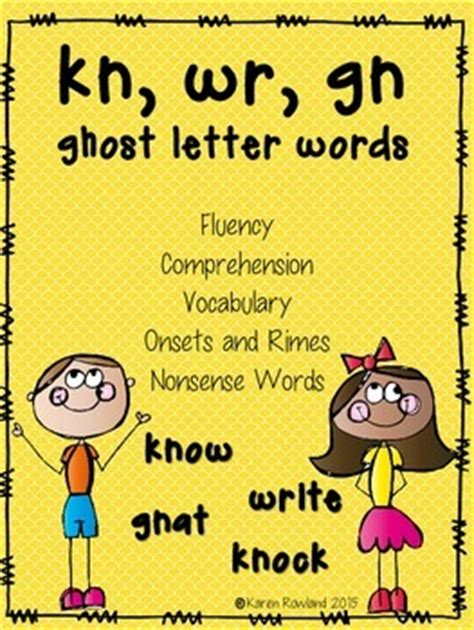 5 Letter Kn Words kn wr gn ghost letter words fluency and