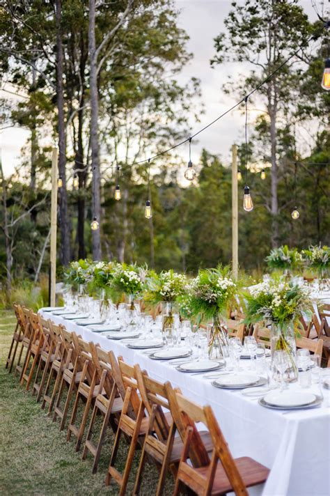 australian outdoor wedding ideas with greenery polka dot