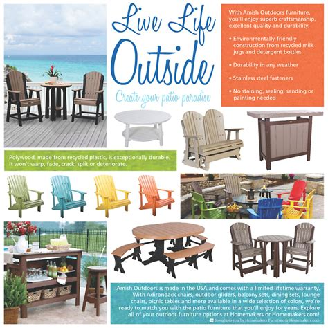 amish made patio furniture homemakers
