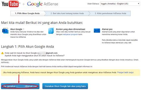 cara daftar google adsense indo melalui akun youtube cara mengaitkan akun adsense dengan youtube