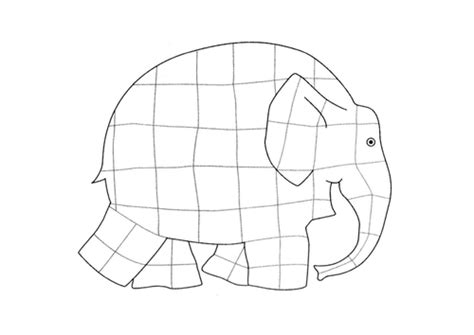 Elmer Colouring In Sheet By Happyjenny Teaching Elmer Colouring Pages