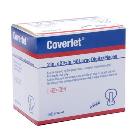 coverlet bandage coverlet large fingertip bandage 50 box mfasco health