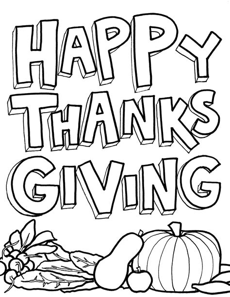 Thanksgiving Day Coloring Pages For Childrens Printable