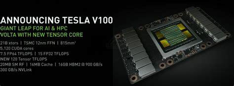 nvidia tesla v100 anunciada 5210 cuda cores bajo la