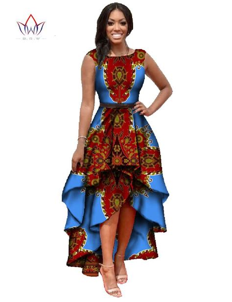 African Dresses | african dashiki ankara dresses with cascading ruffle