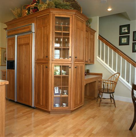 kitchen cabinets craftsman style craftsman style kitchen hickory wood cabinets craftsman