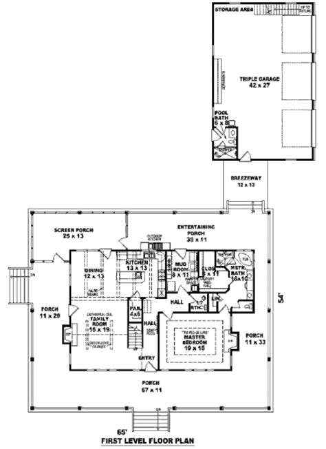 2300 Sq Ft House Plans Southern Style House Plan 3 Beds 3 00 Baths 2300 Sq Ft Plan 81 13909
