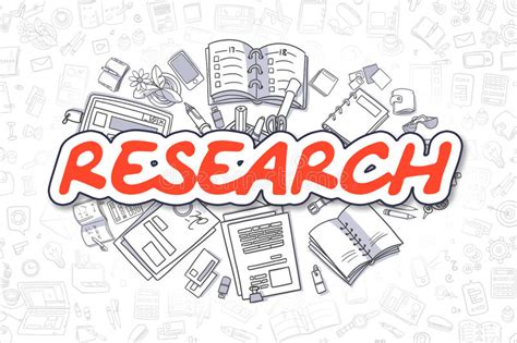 doodle text meaning research inscription business concept