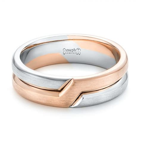 Two Tone Wedding Bands by Two Tone S Wedding Band 102603