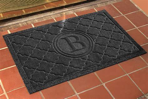 monogrammed waterhog door mats  personalized bombay
