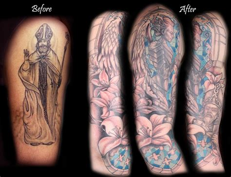 cover up tattoos before and after before and after cover up from black and