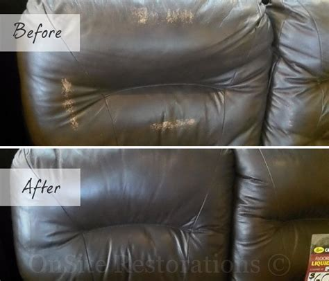 black leather couch repair leather sofa refurbishment fix worn and faded leather