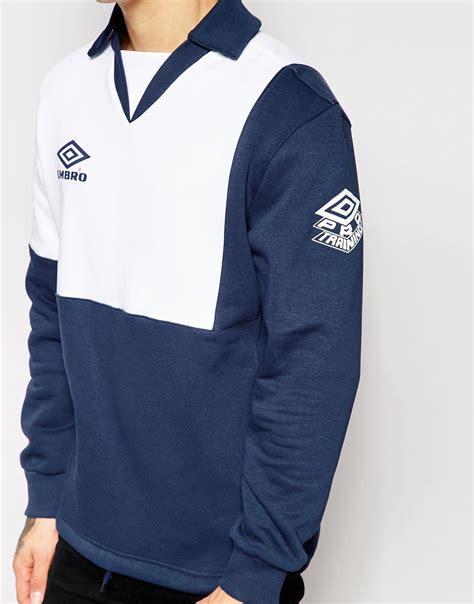 Hoodie Zipper Umbro 1 lyst umbro classic sweatshirt in blue for