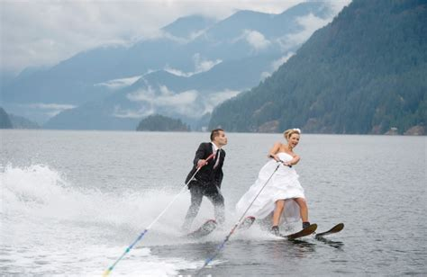 Wedding Aisle On Water by Day For A Wedding Vancouver Newlyweds Take To