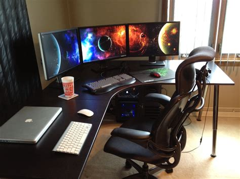 Gaming Setup Desk by Imgur Post Imgur Orlandos Room In 2019 Gaming Desk