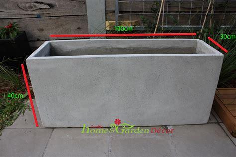 Concrete Planter Box by Garden Pots Batch Of 6 X 100cm Light Weight Concrete Planter Box