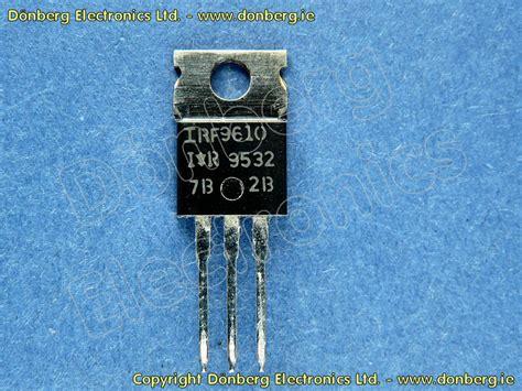 katalog transistor fet halbleiter irf9610 irf 9610 p fet 200v 1 75a 20w 3r0