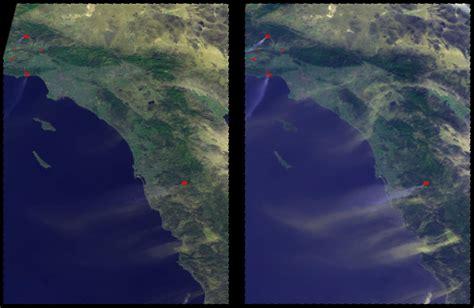 imagenes satelitales modis seguimiento satelital de los incendios en california