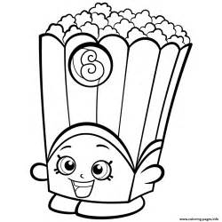 popcorn coloring pages popcorn box poppy corn shopkins season 2 coloring pages