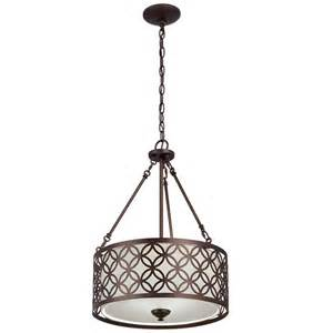 Fabric Pendant Lighting Allen Roth Earling 18 In W Rubbed Bronze Pendant Light With Fabric Shade Lowe S Canada