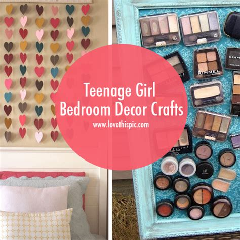 craft ideas for bedrooms teenage girl bedroom decor crafts