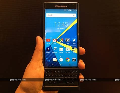 blackberry android mobile phones blackberry priv android phone launched in india price