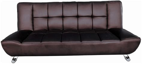 Brown Leather Futon Sofa Bed Vogue Faux Leather Brown Sofa Bed