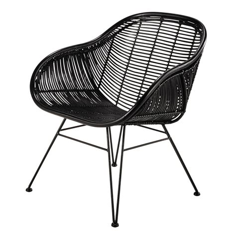 Fauteuil Rotin Noir fauteuil en rotin noir pitaya maisons du monde