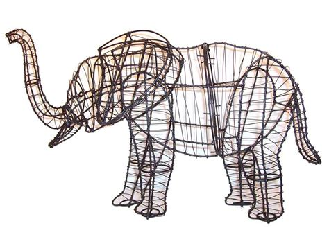 how to make a wire topiary frame elephant animal topiary frame