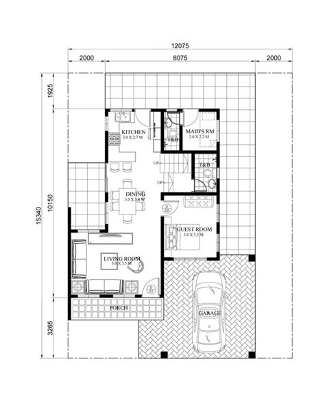 two story house plan with firewall