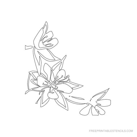 printable stencil templates flowers free printable flower stencil designs www imgkid com