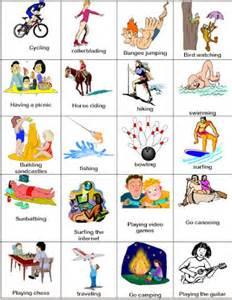 hobbies vocabulary hobbies