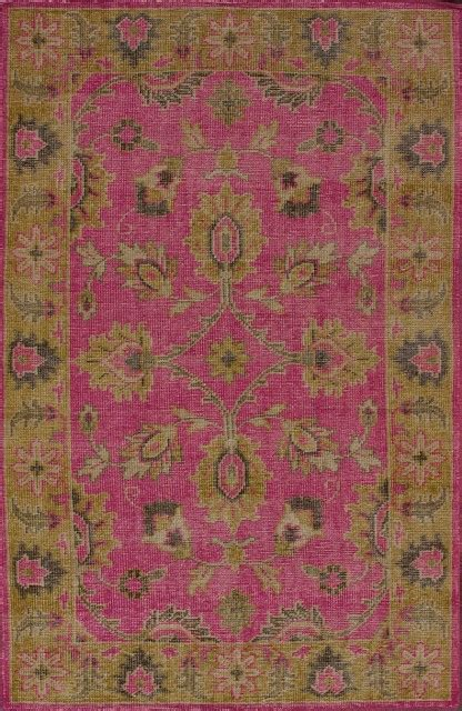 Fuschia Area Rug Traditional Decor 5 X8 Rectangle Fuschia Area Rug Traditional Rugs By Rugpal