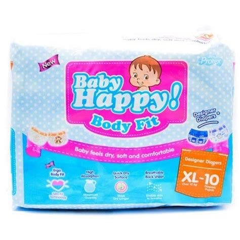 Popok Bayi Baby Happy L30 baby happy xl 10 popok