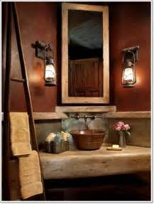 rustic bathroom lighting ideas 42 ideas for the rustic bathroom design
