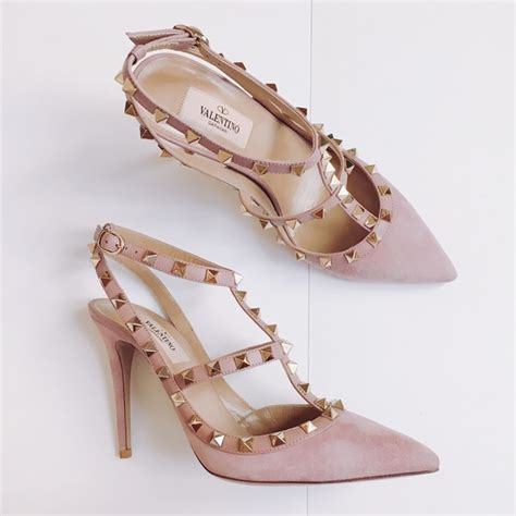 Heels Replika Valentino Cantik valentino shoes rockstud suede pumps heels dusty pink poshmark