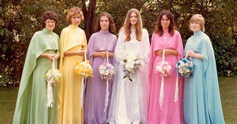 ridiculous vintage bridesmaids dresses  show